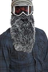 Beard Ski Wolf Ski Mask with Beard–Black by Beardski