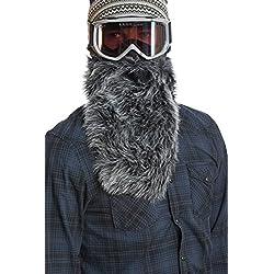 Beardski Masque de ski avec barbe–Loup noir