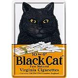 Nostalgic-Art 16203 Animal Club Black Cat Virginia Cigarettes Blechpostkarte, 10 x 14 cm