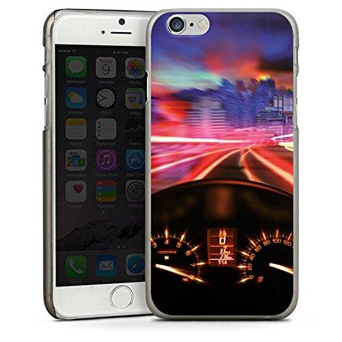 Apple iPhone 6 Housse Étui Silicone Coque Protection Moto Compteur de vitesse Rapide CasDur anthracite clair