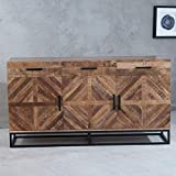 Riess Ambiente Massives Sideboard Infinity 160cm Mangoholz Anrichte Industrial Design Kommode