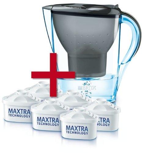 Brita 021771 Wasserfilter Halbjahrespaket Marella Cool graphit, inklusive 6 Kartuschen