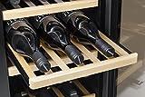 CASO WineMaster 66 Design Weinkühlschrank für bis zu 66 Flaschen (bis zu 310 mm Höhe), zwei Temperaturzonen 5-22°C, Energieklasse A - 4