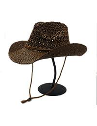 GBY Cappello da Cowboy di Paglia Toquilla da Uomo Estivo per Gentiluomo  Panama Jazz Cappelli ( e318d193e1fd