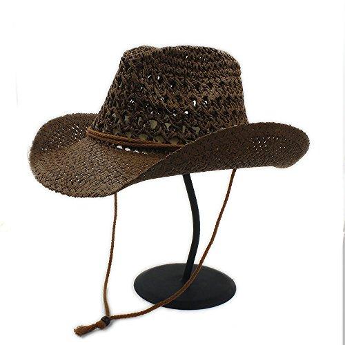 (Ruanyi Sommer Frauen Toquilla Stroh Cowboy Hut Für Gentleman Panama Jazz Hüte Pate Sombrero Cap)