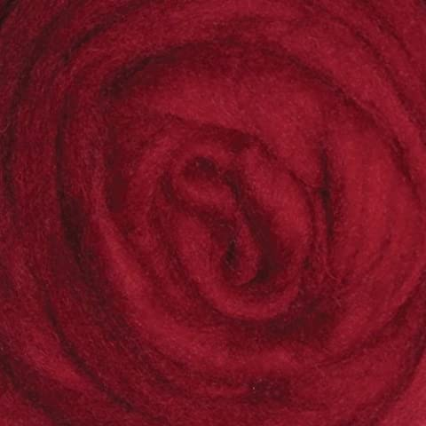 """Wool Roving 12"""" .22 Ounce-Cherry Red"""