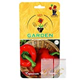 #8: Capsicum F1 Hybrid Red (2 in 1 Combo, 15 seeds per packet x 2) Vegetable Seeds By Gate Garden