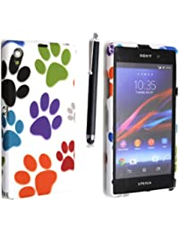 FOR SONY XPERIA Z2 VARIOUS DESIGN SILICONE SILIKON CASE SKIN GEL TPU TASCHE Hülle COVER + STYLUS BY GSDSTYLEYOURMOBILE {TM}