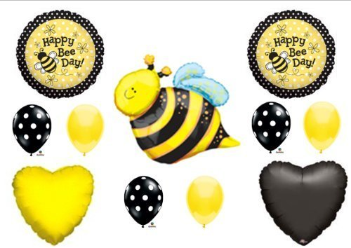 Happy Bee-Day Bumblebee Birthday Party Balloons Decorations Supplies New by Anagram