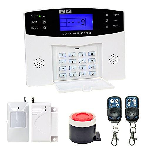 LNGJUN WiFi amp GSM Alarmanlage Funk Alarmsystem Sicherheit Set fuer Haus YA-500-GSM (DE Stock)
