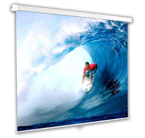 Schermo Proiezione manuale a molla 244x244cm, Telo da Videoproiettore Avvolgibile 244 x 244cm'Classic' ottimo per ogni Proiettore 100% Professionale di Qualità Superiore HD!