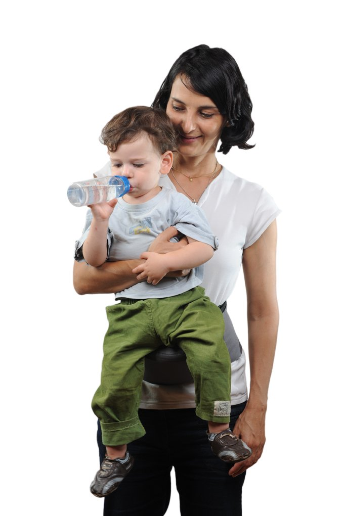 Pomfitis Carry G8766Baby Belly Waist Strapless Black Pomfitis LTD No more back pains from carrying your baby around! The Side Ride is a back supporting belt with an integrated child seat The Side Ride distributes your baby's weight evenly, reducing the strain on your spine, shoulder and arm 5