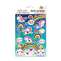 Rachel Ellen Designs Puffy 3D Stickers Unicorn and Rainbows - Gold Foil - Scrapbook Wall Stickers