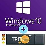 Microsoft Windows 10 Pro 32 bit & 64 bit - Original Lizenzschlüssel mit bootfähigen USB Stick von - TPFNet - Bei uns steht die Kundenzufriedenheit an erster Stelle. - Geprüfte Qualität und 100% Kundenservice an. - Original USB Stick v...