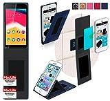 Cover per Wiko Rainbow Jam 3G - Custodia innovativa 4 in 1 in Blu - supporto a parete Anti-Caduta, Supporto per Tablet da auto, Supporto da Tavolo - Custodia protettiva per Auto o da Muro senza necessità di utilizzare ganci o colla - per Wiko Rainbow Jam 3G Originale offerto da reboon