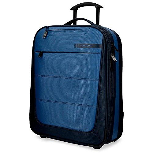 Movom Detroit - Equipaje de Mano, 55 cm, 37 Litros, Azul
