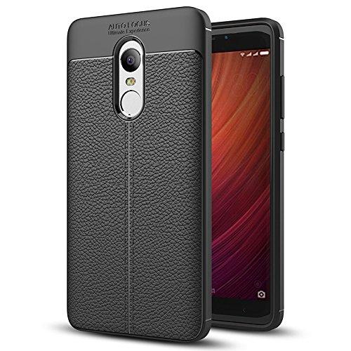 Coque Xiaomi Redmi Note 4, MSVII® Anti-Shock Silicone TPU Souple Coque Etui Housse Case et Protecteur écran Pour Xiaomi Redmi Note 4 - Gris JY90052 Noir