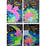 Birthday Popper Glow in The Dark Radium Stickers (Set of 20) with Thank You Card + Gift Wrap. Ideal as Birthday Return Gifts