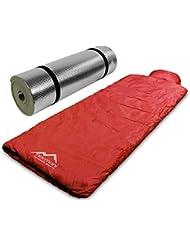 Pilotenschlafsack mit Kissen und Aluminium Isomatte
