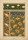 Bason Poppy Flower Pattern Fancy Picture Room Darkening Roller Shades Available Custom