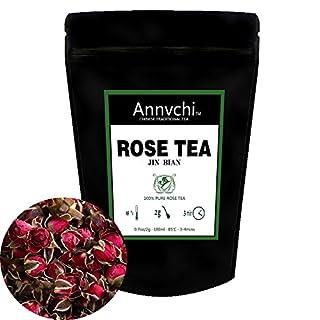 Rose Tea Loose (46 Cup) - Best Tea Rose and Tea China - Red Rose Tea - Chinese Herbal Teas - Decaffeinated - 92 Gram (3.2 Ounce)