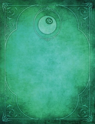 Monogram Pocket Billiards (Pool) Blank Sketchbook: Art Sketch Pad Notebook: Volume 62 (Monogram Elegance 150 Sketch) por N.D. Author Services