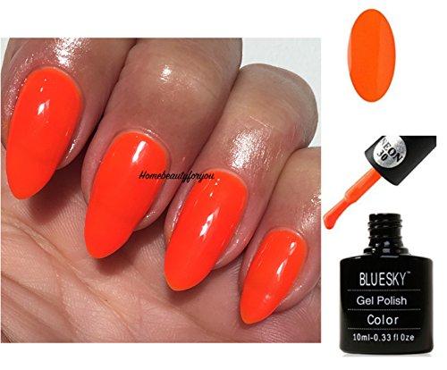 BLUESKY Neon 30Bright Orange Sunset Boulevard Nagellack-Gel UV LED Soak Off 10ml plus...