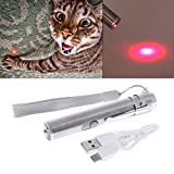 Lottoy® Cat Teaser Toy, 3 in 1 Interactive LED Light Pointer Pen USB Rechargeable Flashlight Pen