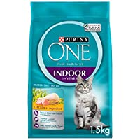 Purina One Adult Indoor Cat Food with Chicken 1.5Kg(Pack of 1)
