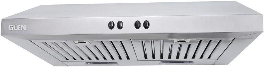 Glen Kitchen Chimney 6000 60cm Stainless Steel Baffle Filters 1000 m3/h with Lifetime Warranty