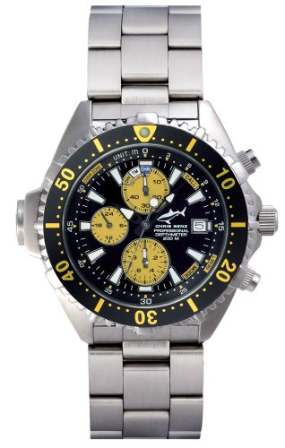 Chris Benz Depthmeter Chronograph CB-C-YELLOW-MB Men's watch Depth Gauge