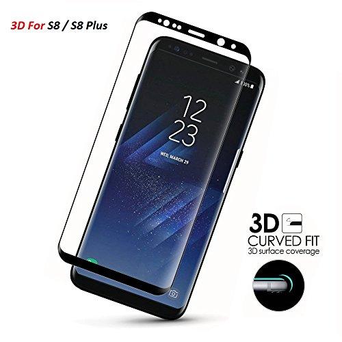 aileese Samsung Galaxy S8cristal templado curvo 3d Full Cover Lámina de protección Film Protector de pantalla Samsung Galaxy S8Plus Funda Completa Cristal
