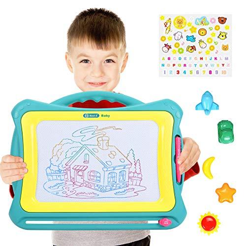 Nextx grande lavagnetta magnetica magica - giocattolo educativo e creativo a colori - tavoletta da disegno cancellabile - regalo per bambini
