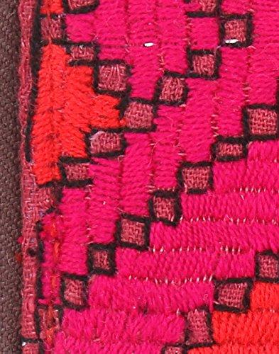Borsa in cotone Rajrang antico Pochette vintage ricamati a mano per le donne Magenta Pink & Red
