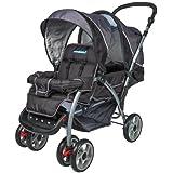 Nueva Mamakiddies GREEN02doble Tandem bebé cochecito doble silla de paseo (gris/negro)