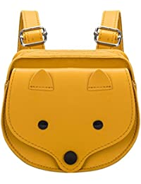 Demiawaking Childrens Girls Cute Fox Backpack School Bags PU Leather Mini Travel  Rucksack Casual Book Bags c4b10776b88b7