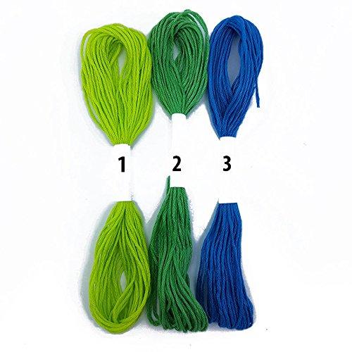 Blau Grün Lime Blaugrün Kreuzstich Baumwolle Stickgarn Nähen Garnknäuel Floss Auf der Zubehör Dachboden® (3)Teal Blue -