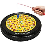 Webby Musical Rotating Tyre Fishing Game Toy with 45 Fishes (Multi-Color)