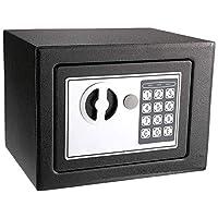 Digital Keypad Lock Safe Security Box, Black