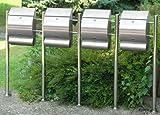 Edelstahl-Standbriefkasten EMO 1er, 2er, 3er oder 4er (EMO 4er)