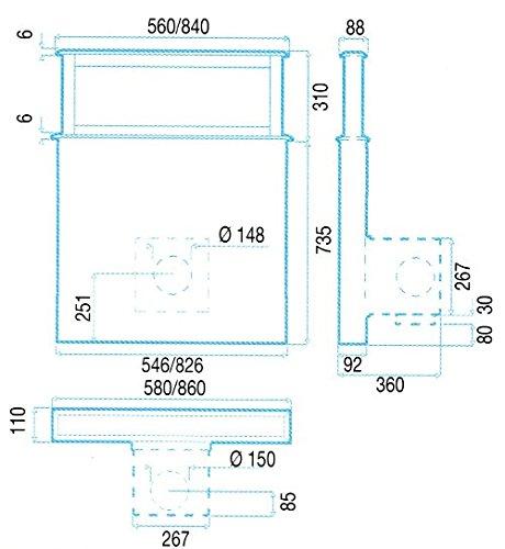 Best Dunstabzugshaube Lift Glas Weiß 90 EM - 2