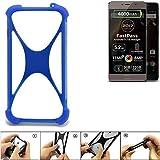 K-S-Trade Bumper für Allview P9 Energy Lite (2017) Silikon Schutz Hülle Handyhülle Silikoncase Softcase Cover Case Stoßschutz, blau (1x)