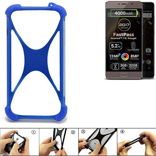 K-S-Trade Bumper Allview P9 Energy Lite (2017) Silikon Schutz Hülle Handyhülle Silikoncase Softcase Cover Case Stoßschutz, blau (1x)