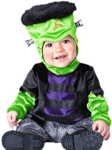 Jungen Süßes Frankenstein Kostüm, Babykostüm, Fasching, Halloween, M, Mehrfarbig (Jungen Frankenstein Kostüm)