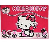 Unbekannt Teppich -  Hello Kitty  - Kinderteppich / Bettvorleger - 95 cm * 135 cm - ru..
