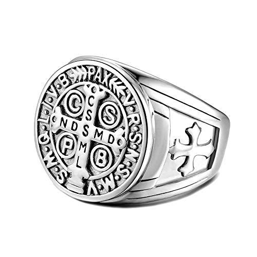 0a2f27274411 BOBIJOO Jewelry - Anillo Anillo Anillo de Hombre de la Cruz de San Benito  de Protección
