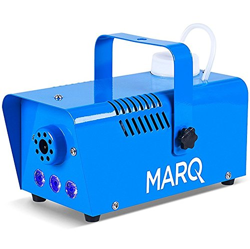 MARQ Fog 400 LED Quick-Ready kompakte Nebelmaschine (mit Pyro-Lichteffekt) blau