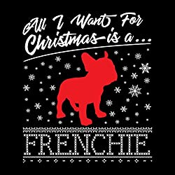 Coto7 Frenchie All I Want For Christmas French Bulldog Men's Sweatshirt