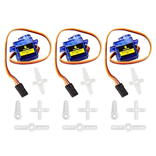 Price comparison product image keyestudio 9g Micro Servo Motor Robot Arm Helicopter Airplane Fans RC Toys with Blue Color (3pcs) for Arduino Project