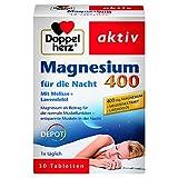 Doppelherz Magnesium 400 für die Nacht mit Melisse und Lavendelöl – Magnesium zur Unterstützung der normalen Muskel- und Nerv
